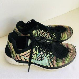 Custom Nike Free Flyknit Multicolor Running Shoes
